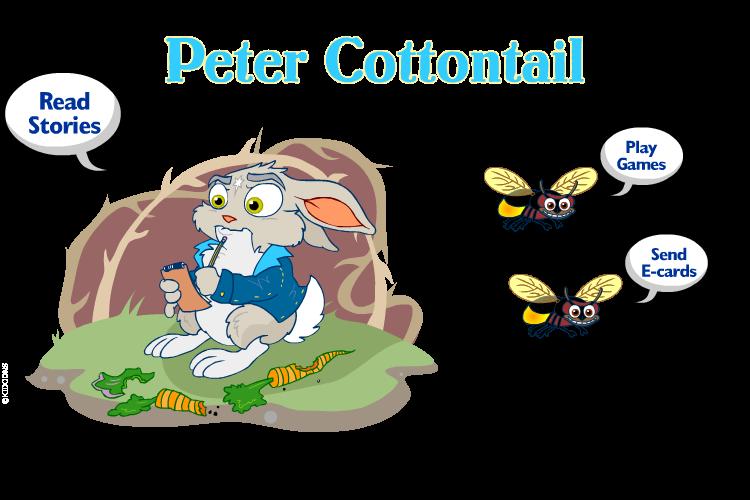 Peter Cottontail™ website - KIDOONS
